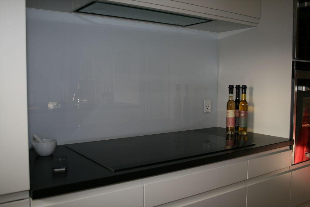 Stænkplade klar glas