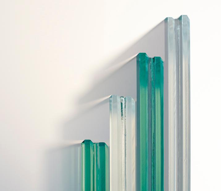 rustfrit stålgelænder med glas